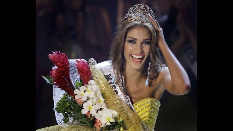 La modelo y actriz venezolana Dayana Mendoza, Miss Universo 2008