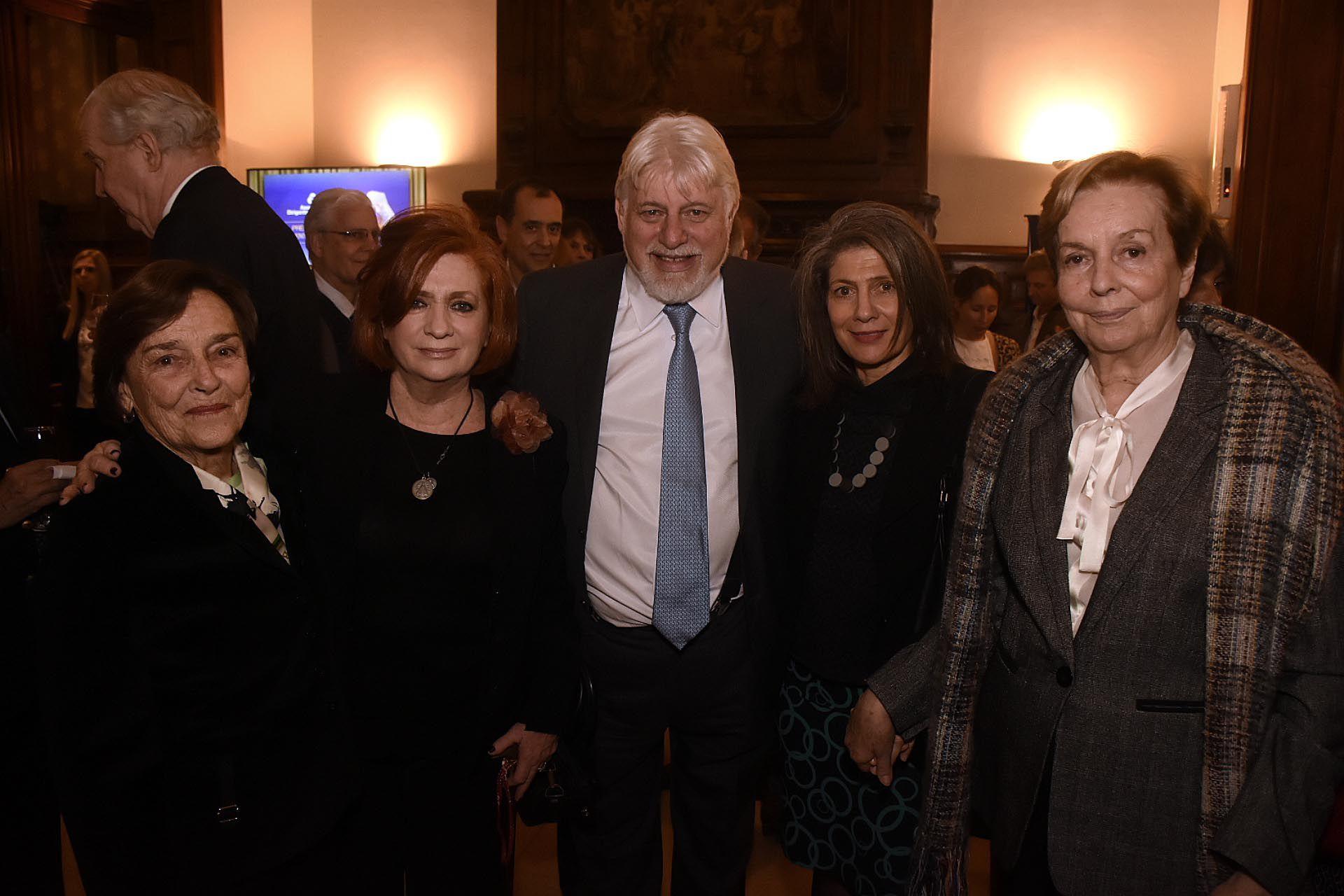 Teresa González Fernández, Adrián Werthein, Martine Delogne y Julita Maristany