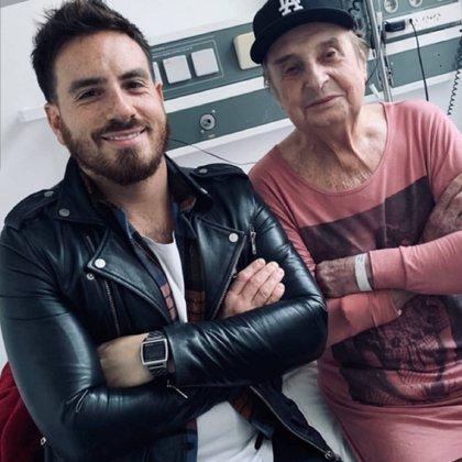 Federico y Santiago Bal, en la visita del actor al capocómico que está internado en IMAC