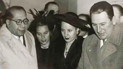 Ramón Carrillo junto a Eva y Juan Perón