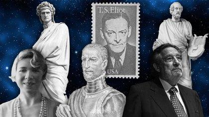 Dante, Thomas Eliot, Homero, Alfonsina Storni, Garcilaso de la Vega y Octavio Paz