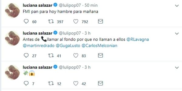 Luli Salazar analizó los anuncios económicos y sus seguidores contestaron
