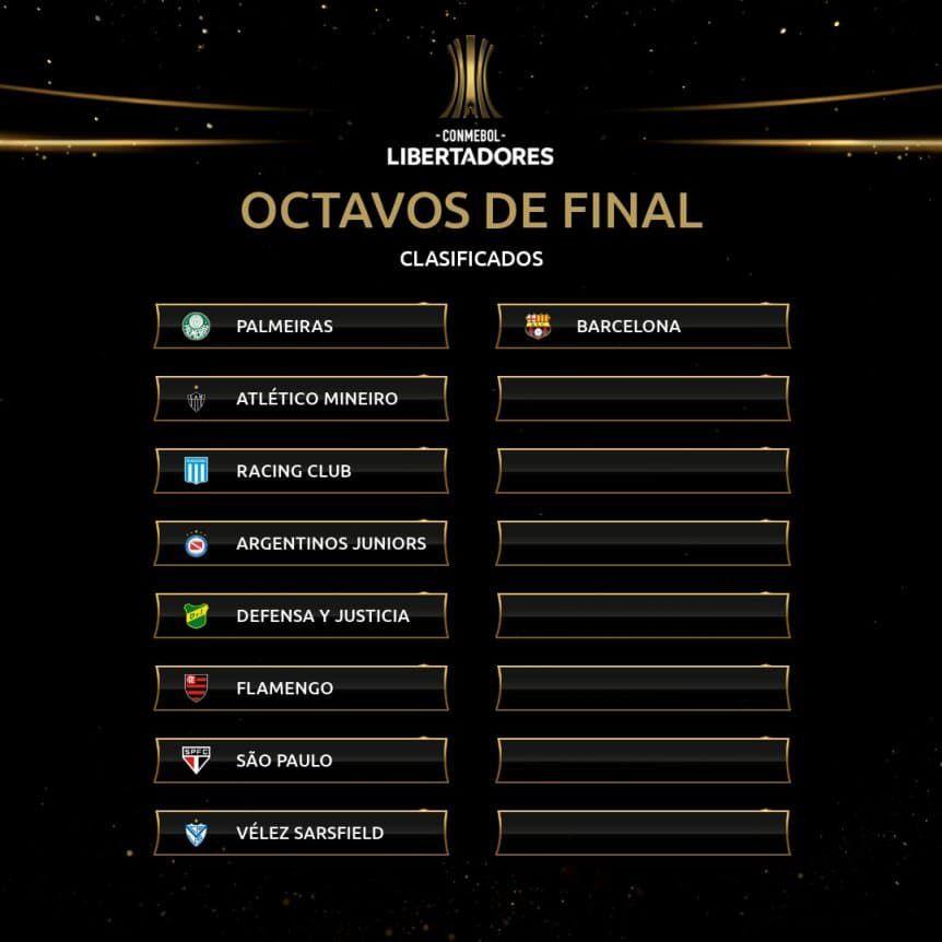 clasificados a octavos copa libertadores 2021