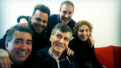 Carlín Calvo pasó el Día del Amigo con Diego Pérez, Matías Santoianni, Carlos Olivieri y su hija, Catalina