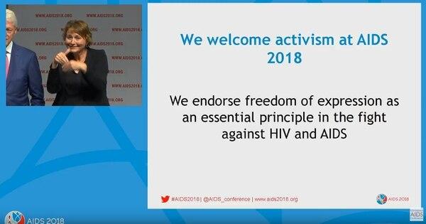 En la transmisión oficial, la organización puso un mensaje en favor del activismo