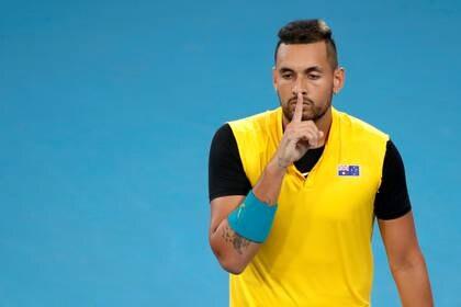 Nick Kyrgios eligió a Roger Federer, Daniil Medvédev, Gael Monfils y Andy Murray para su equipo ideal en el desafío viral de la ATP (REUTERS)
