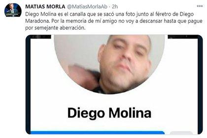 La actitud de Diego Molina fue condenada rápidamente a través de las redes sociales y, en pocos minutos, el dueño de la funeraria Pinier afirmó que el empleado fue desvinculado