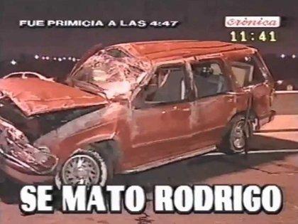 La muerte de Rodrigo, una de las noticias que se vieron primero por Crónica TV