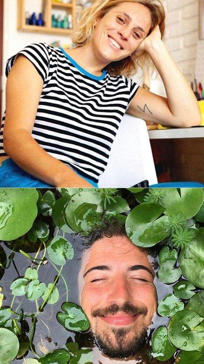 """Las fotos de Clara y Francisco utilizadas en el perfil de Bumble. """"Me encantó la orginalidad de la foto"""""""