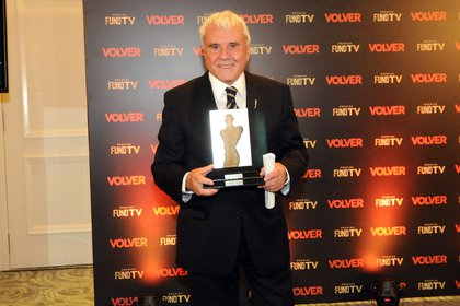 Fernando Bravo recibió un premio por su trayectoria (Teleshow)