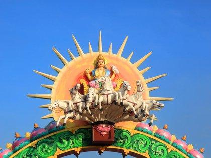 La diosa Surya es representada por el Sol en la India