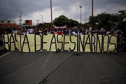 La ola de masacres en Colombia ha despertado manifestaciones populares de rechazo en todo el país.  EFE / Ernesto Guzm & # 225;  n Jr./Archivo