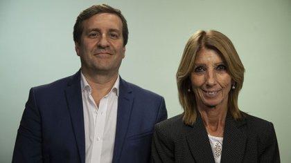 Alejandro Cambours, gerente general de Helios Salud, y Marta García, directora ejecutiva de Helios Salud
