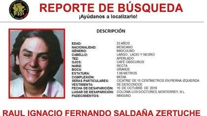 Saldaña Zertuche era originario de Moncloa (Foto: Fiscalía de Nuevo León)