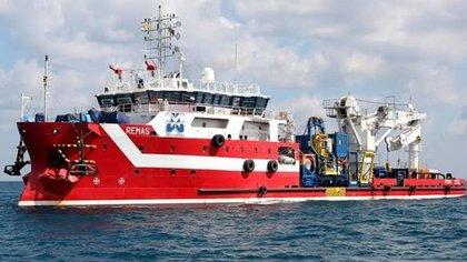 El barco italiano Remas fue atracado en 2019 (Foto; archivo)