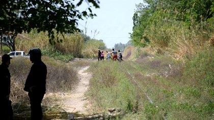 El lugar del accidente en Albardón, provincia de San Juan. El tren de carga iba camino a Mendoza (Gentileza Diario Huarpe)