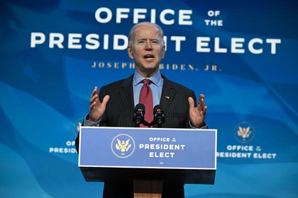Joe Biden, presidente electo de EEUU ya sostuvo una llamada telefónica con AMLO, donde destacó la relación bilateral (Foto: AFP)