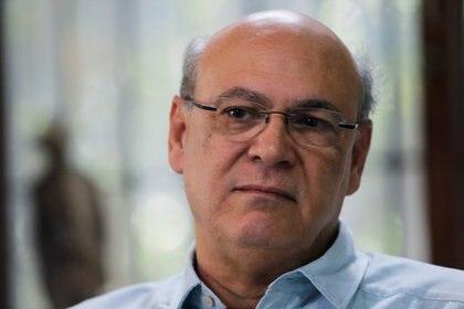 El periodistaCarlos Fernando Chamorrodurante una entrevista en Managua, Nicaragua(REUTERS/Oswaldo Rivas)