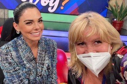 """Magda Rodríguez optaba por polémicos invitados a sus programas, como Livia Brito, quien asistió a """"Hoy"""" hace unas semanas en medio de su polémica por agredir a un paparazzo (Foto: Instagram @magdaproducer)"""