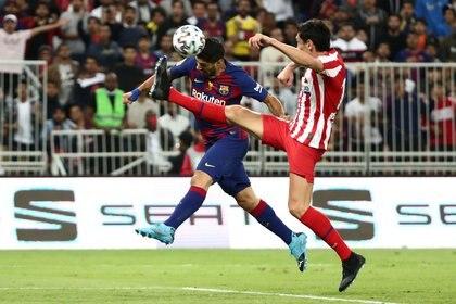 Suárez jugó lesionado la semifinal de la Supercopa - REUTERS/Sergio Perez