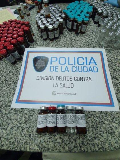 Algunos de los medicamentos secuestrados durante los allanamientos a las farmacias que trabajaban con la clínica del doctor Mühlberger