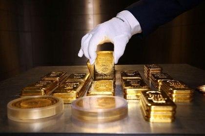 Stock image de lingots d'or et de pièces conservées dans un coffre-fort de la société Pro Aurum à Minich, Allemagne.  14 août 2019. REUTERS / Michael Dalder