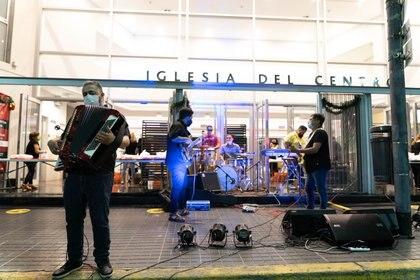 También hubo música para celebrar la Navidad (Foto: Franco Fafasuli)