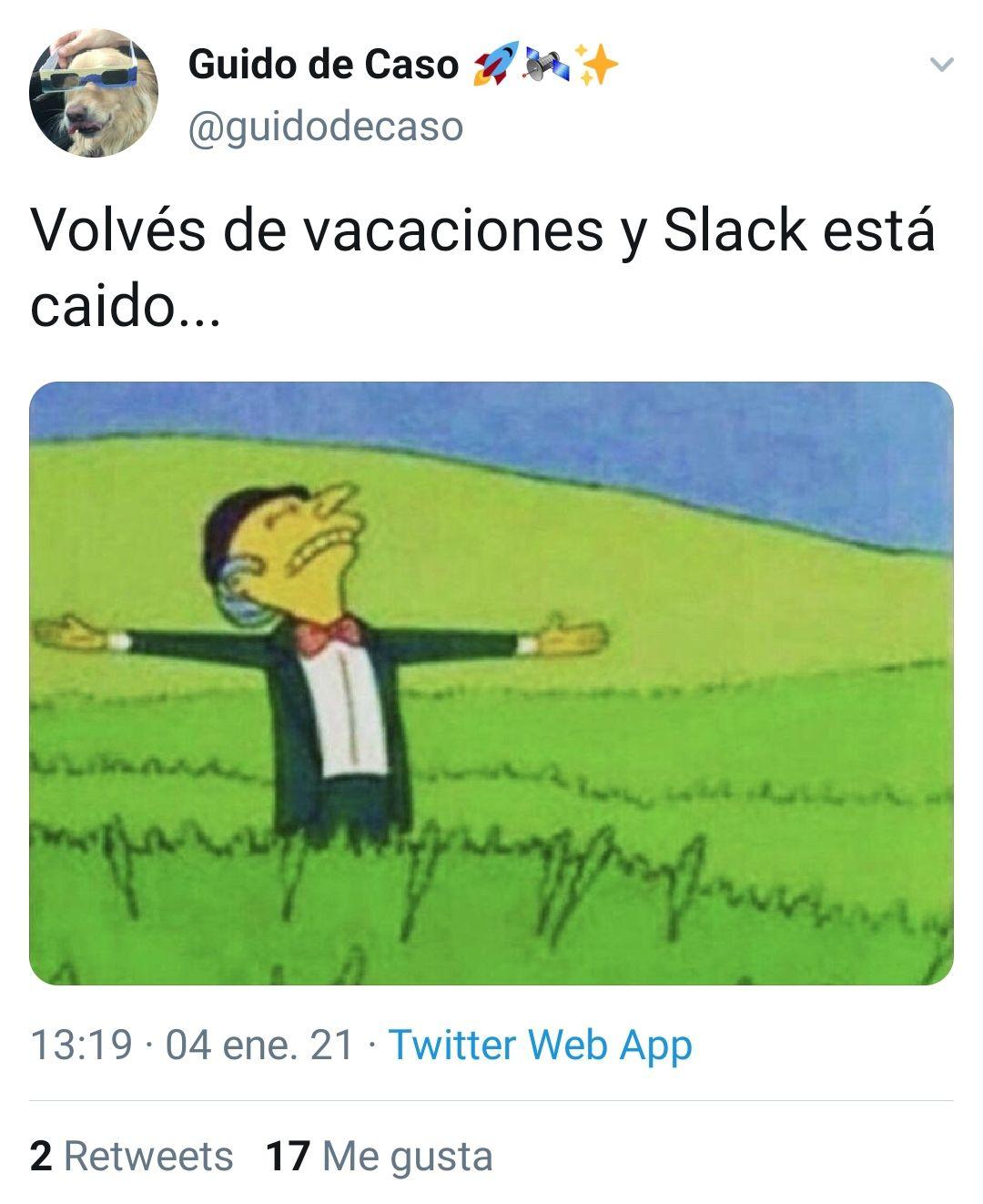 Memes por la caída de slack