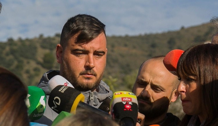 José Roselló (d), padre de Julen, el niño de dos años . EFE/Álvaro Cabrera