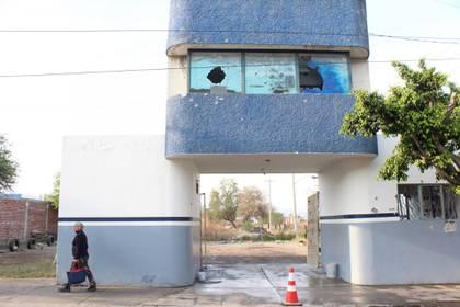 El ataque a una caseta de la Policía Municipal de Celaya (Foto: DIEGO COSTA/CUARTOSCURO)
