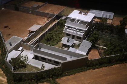 Imagen hecha con computadora del complejo en Abbottabad, Pakistán, donde vivía y fue abatido Osama bin Laden (Reuters/ Carlo Allegri)