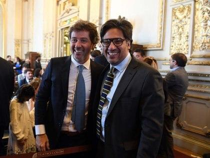 Juan Mahiques y el ministro de Justicia, Germán Garavano.