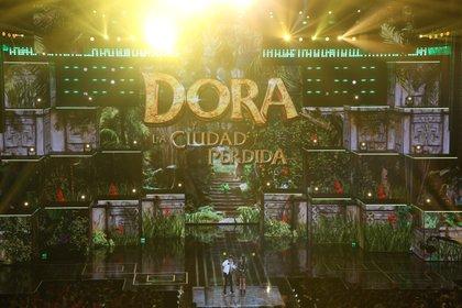 En la premiación se presentó el trailer de la película de Dora, la Ciudad Perdida (Foto: Juan Vicente Manrique/Infobae México)