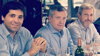 El diputado Sebastián García de Luca junto al ex ministro del Interior Rogelio Frigerio y el ex presidente de la Cámara de Diputados, Emilio Monzó.