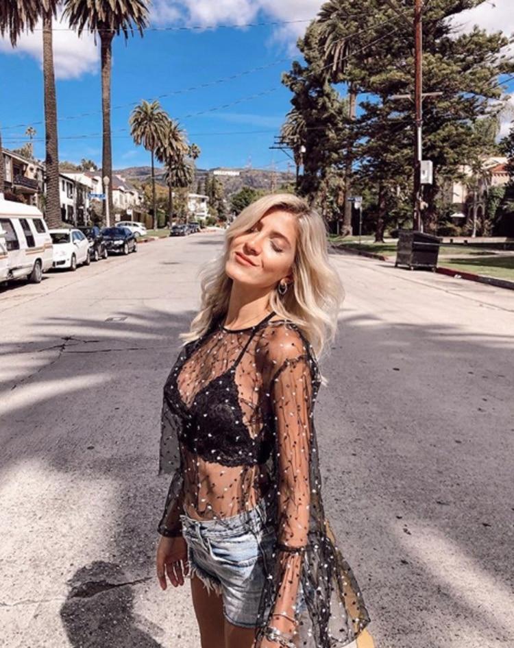 La modelo compartió en las redes sociales fotos de su estadía en Los Ángeles (Instagram)