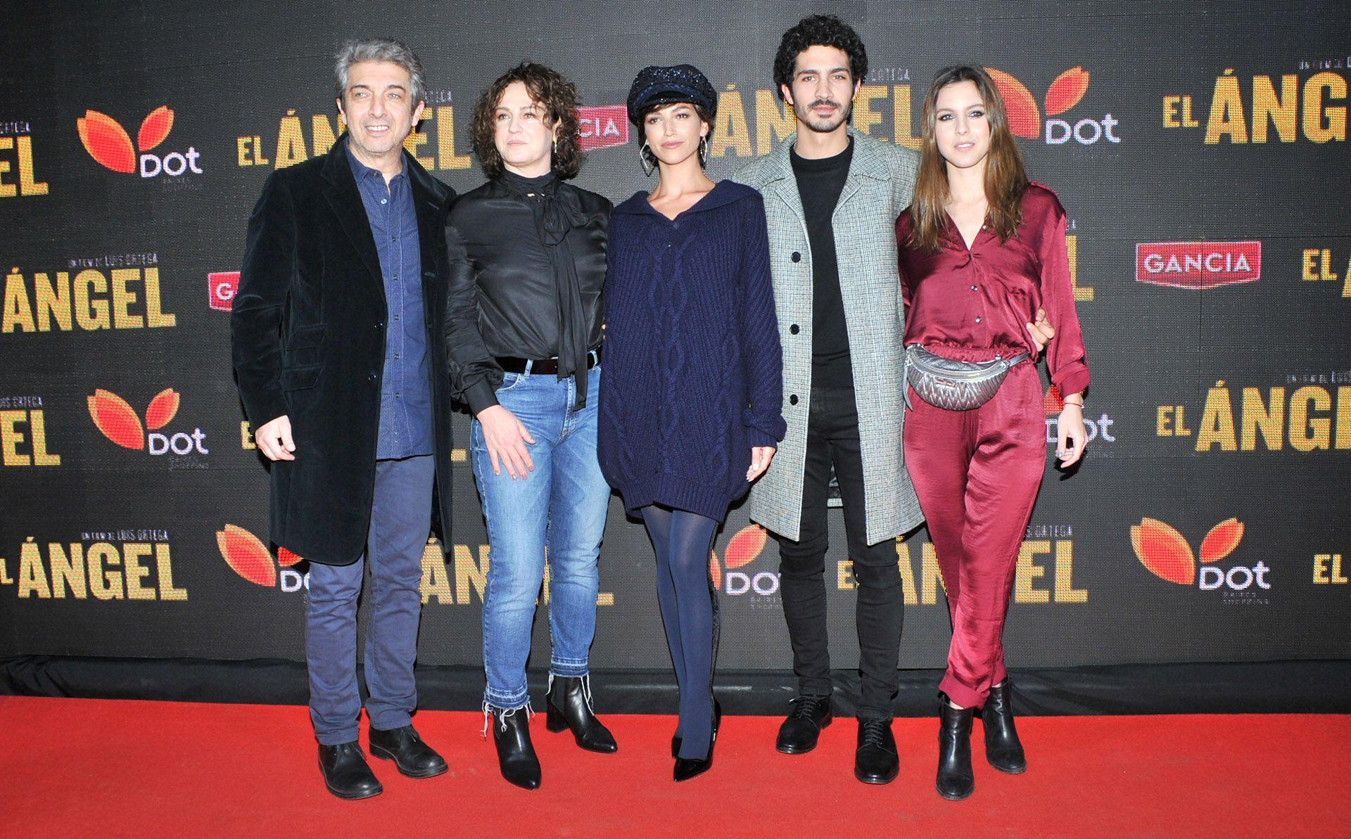 """Ricardo Darín, Florencia Blas, Úrsula Corberó, Chino Darín y Clara Darín en la premiere de """"El Ángel"""""""