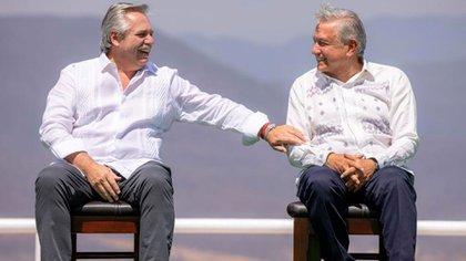 Alberto Fernández y López Obrador en México (Foto: Presidencia de México)