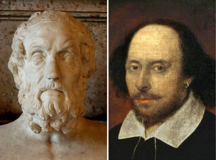 """""""Homero y Shakespeare: todo está en ellos. Los demás poetas, incluso los más grandes, quedan pequeños a su lado"""", escribió Flaubert"""