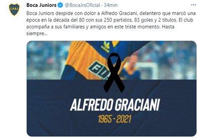 El posteo de Boca Juniors