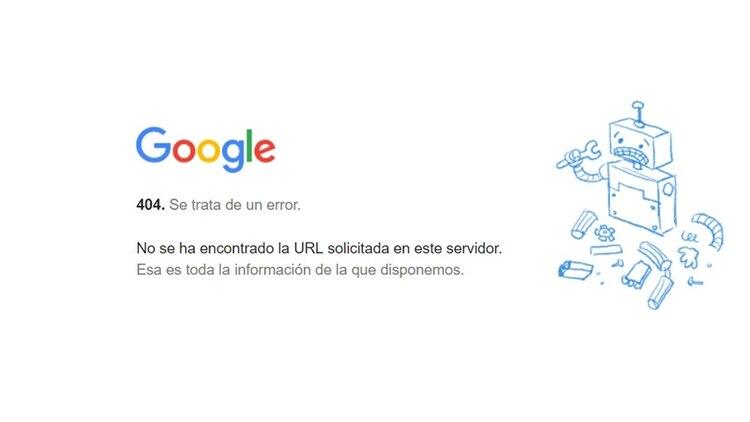 Éste es el mensaje que se ve al querer ingresar a Gmail.