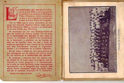 Libro de Del Molino, donde Cayetano Brenna esboza su historia
