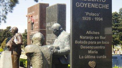 Juntos en la eternidad: Roberto Goyeneche (1926-1994) y Aníbal Troilo (1914-1975), amigos en su vida, descansan juntos