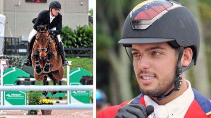 Emanuel Andrade se presenta en redes sociales como un jinete y atleta olímpico.
