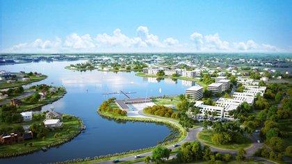 """Puertos, una de las """"ciudades"""" que Costantini desarrolló en Escobar  (Gentileza Costantini)"""