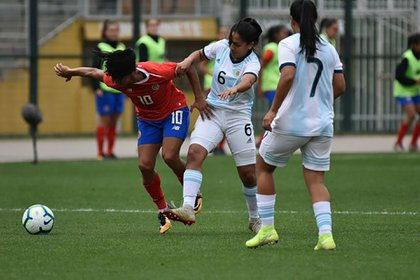 Argentina cayó por 3-1 ante Costa Rica en el cuadrangular de Brasil (Crédito: Stefanía León – AFA)