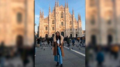 En el Duomo de Milán días antes que decretaran la cuarentena obligatoria en la ciudad italiana