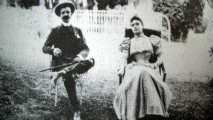 Ignacio de Torre y Amada Díaz, hija mayor del presidente Porfirio Díaz.