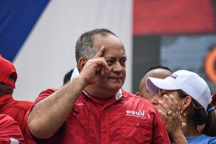 11/09/2018 El vicepresidente del Partido Socialista Unido de Venezuela (PSUV) , Diosdado Cabello, durante un acto de campaña en Caracas, Venezuela POLITICA SUDAMÉRICA VENEZUELA INTERNACIONAL LATINOAMÉRICA ROMAN CAMACHO / ZUMA PRESS / CONTACTOPHOTO