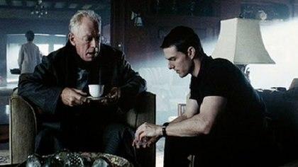 """Max von Sydow junto a Tom Cruise en una escena de """"Minority Report"""""""