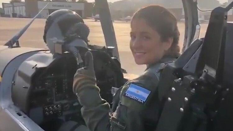 Sofía Vier, durante el entrenamiento en EEUU